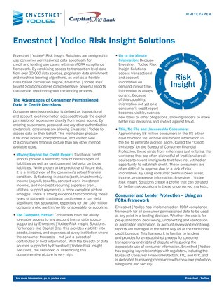 Envestnet | Yodlee Risk Insight Solutions Whitepaper