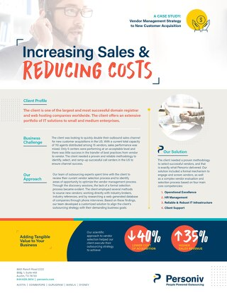 Sales Solutions Case Study