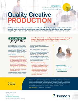 Creative Services Case Study