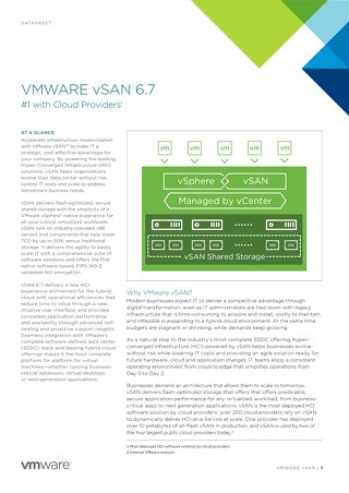 Accelerate infrastructure modernization with VMware vSAN 6.7