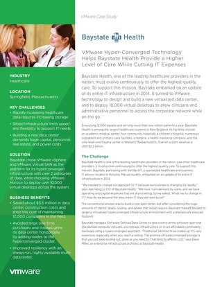 Case Study: VMWare x Baystate Health