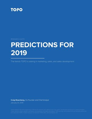 TOPO Predictions for 2019