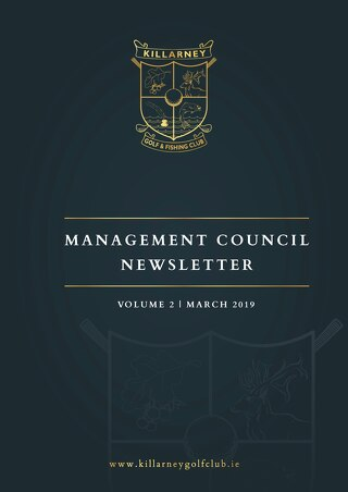 Killarney Golf Club - Management Council Newsletter