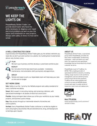 Skilled Trades Electrician - Sell Sheet