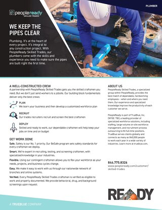 Skilled Trades Plumber - Sell Sheet