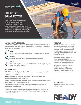 Skilled Trades Solar Installer - Sell Sheet