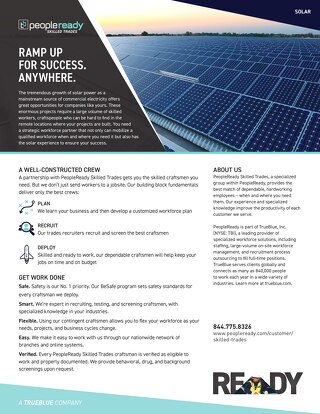 Skilled Trades Solar - Sell Sheet