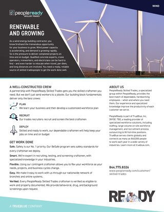 Skilled Trades Wind - Sell Sheet