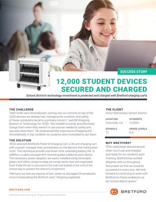 12,000 Chromebooks Secured & Charged