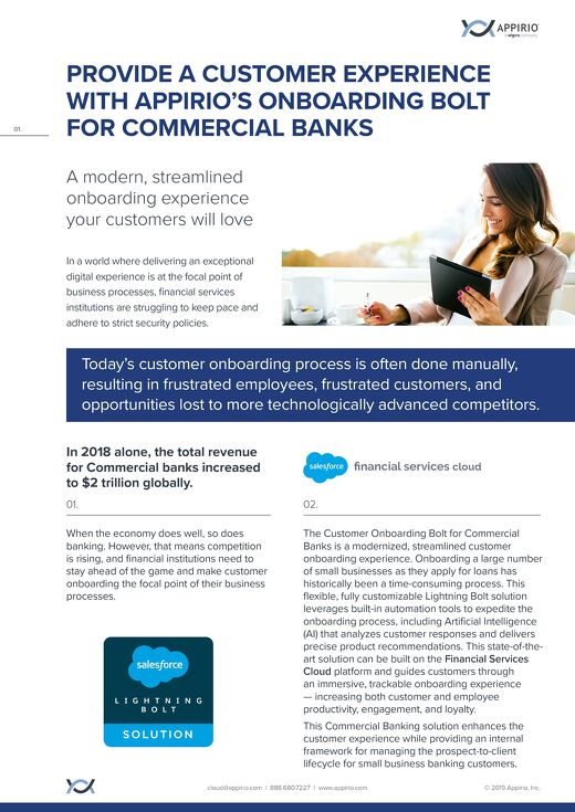 Commercial Banking Bolt One-Pager