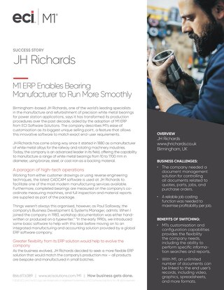 JH Richards White Metal Bearings