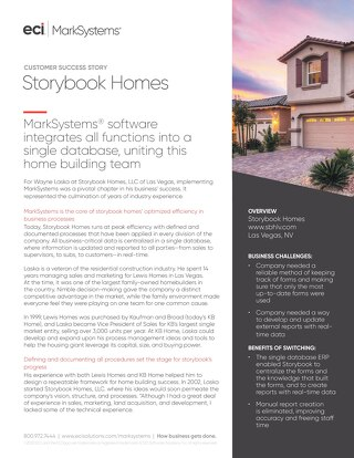 Case Study: Storybook Homes