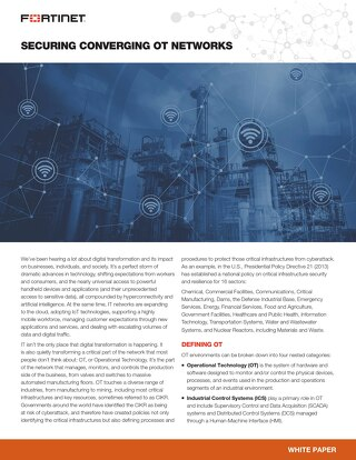 FortiRugged Solution Brief