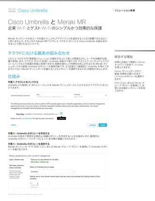Cisco Umbrella と Meraki MR