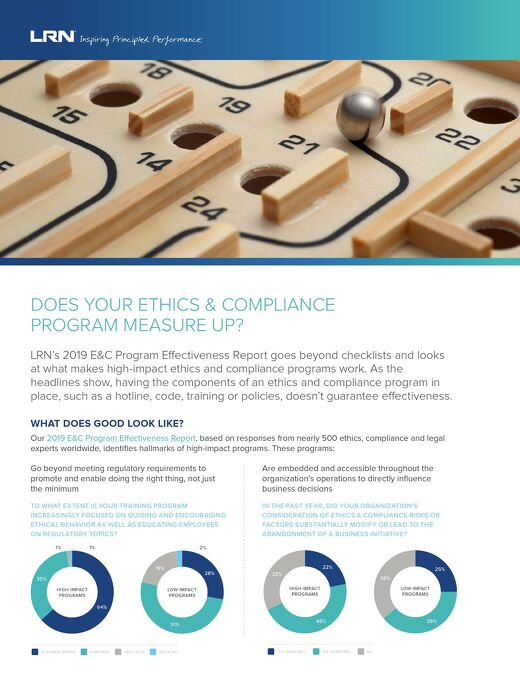 Does Your E&C Program Measure Up?