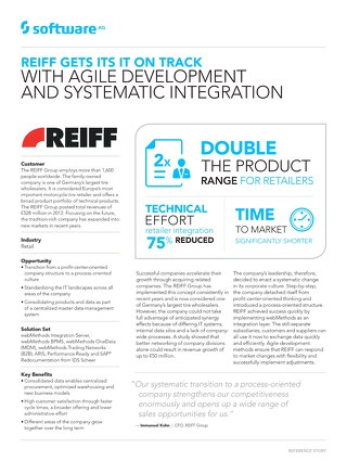REIFF gets its IT on track with agile development and systematic integration
