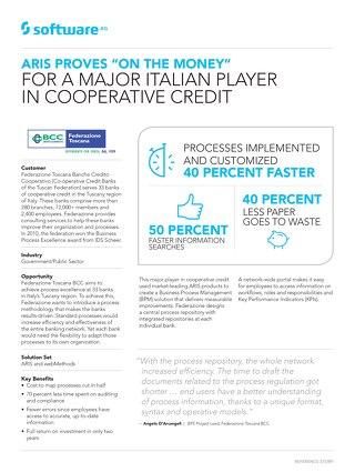 Federazione Toscana BCC: Fewer errors, faster processes