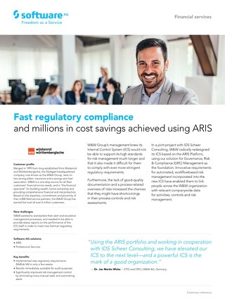 W&W get 150% ROI with ARIS GRC