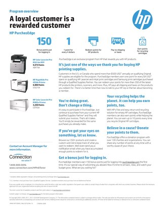 HP PurchasEdge Member Program Overview