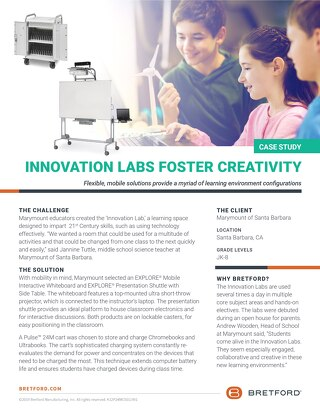 Innovation Labs foster creativity with an ever changing layout.