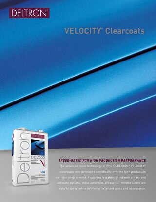 Deltron Brand Velocity Clearcoat Flyer