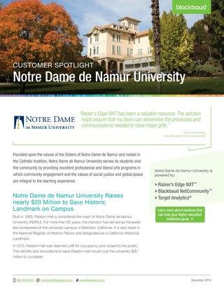 Customer Story: Notre Dame de Namur University
