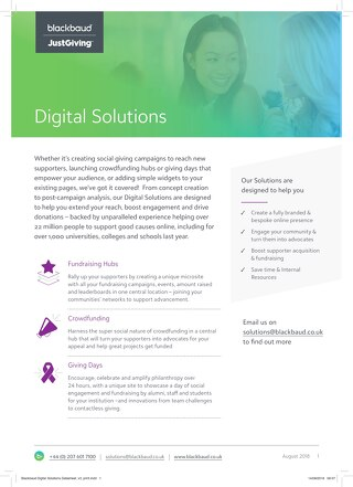 Blackbaud Digital Solutions Datasheet