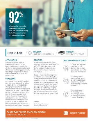 Improve patient care by keeping mobile devices charged, managed and provisioned.