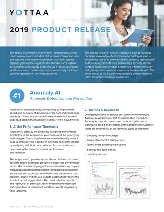 Solution Sheet: Product Release April 2019