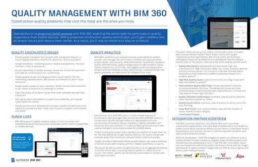 Quality Management with BIM 360