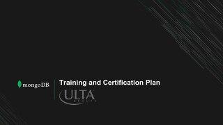 MongoDB Certification Plan - Ulta