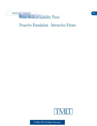 TMLT Annual Report 1998