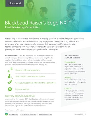 Raiser's Edge NXT Email Enhancements Datasheet
