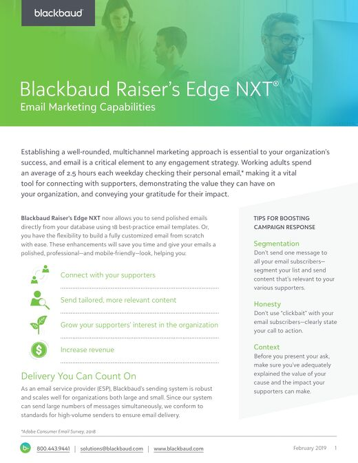 Raiser's Edge NXT Email Enhancements Datasheet