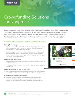 Blackbaud Peer-to-Peer Fundraising, Powered by JustGiving