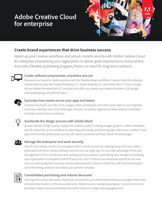 Creative Cloud for Enterprise Overview