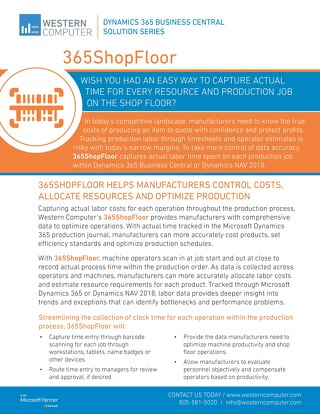 365ShopFloor Sales Sheet