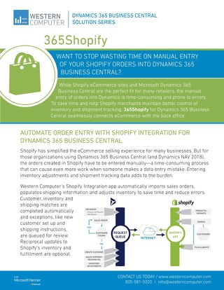 365ShopifyConnect Sales Sheet