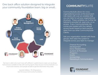Integrate your Community Foundation Team