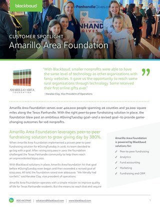 Customer Spotlight: Amarillo Area Foundation