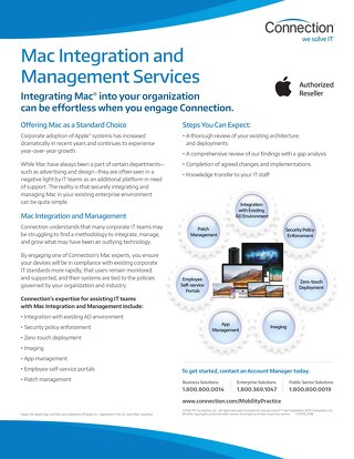 Connection's Mac Integration Services