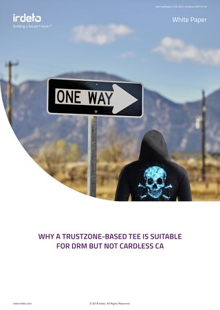 White Paper: Why a trustzone-based TEE is suitable for DRM but not cardless CA