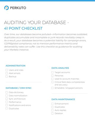 Auditing Your Database Checklist