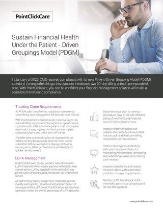 Sustain Financial Health Under PDGM