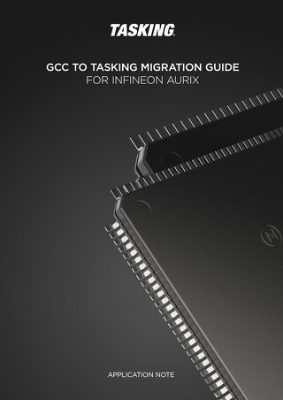 GCC to TASKING Migration Guide for Infineon AURIX