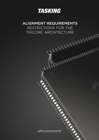Alignment Requirements Restrictions for the TriCore Architecture