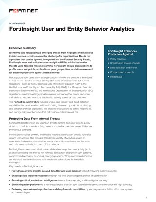 FortiInsight Solution Brief