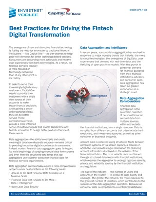 Best Practices for Driving the Fintech Digital Transformation