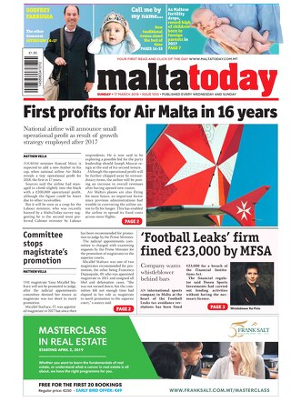 MALTATODAY 17 March 2019