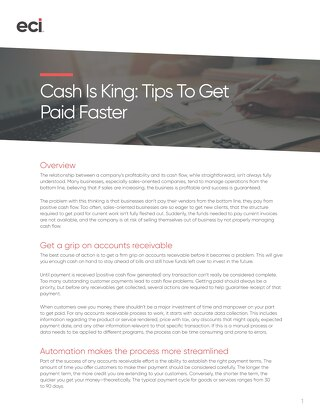 Whitepaper: Cash is King--Tips to Get Paid Faster